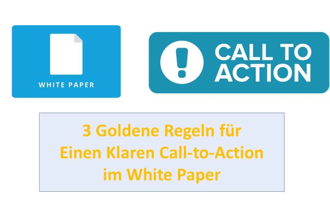 3 Goldene Regeln für einen Klaren Call-to-Action im White Paper