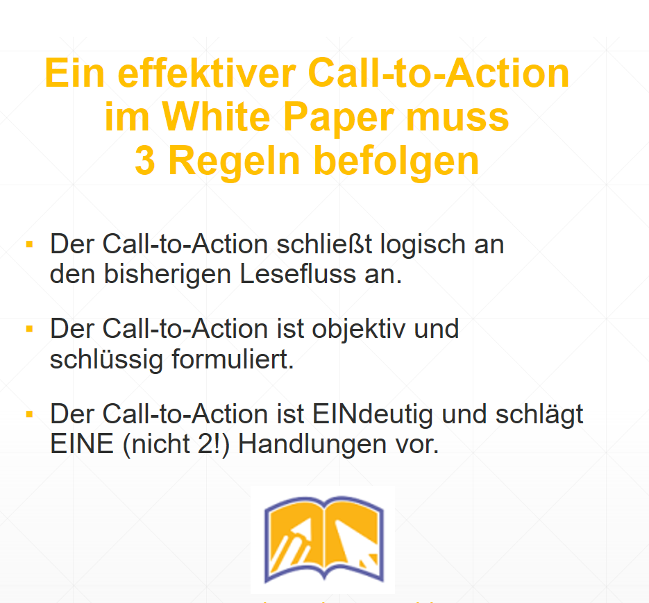 3 Regeln Call to Action White Paper