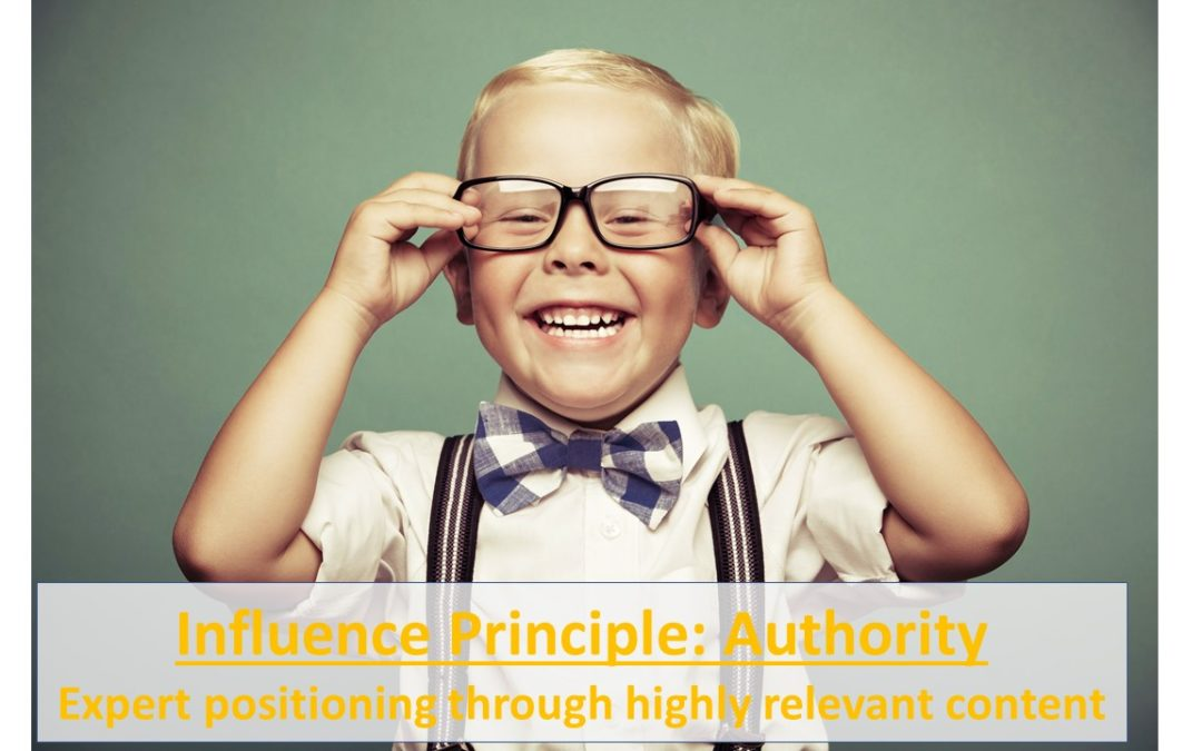 Influence Principle Authority: How To Use High-Value Content To Position Yourself As An Expert (& Win More Clients)