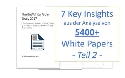 7 Insights aus der Analyse von 5400 White Papern – 2/2