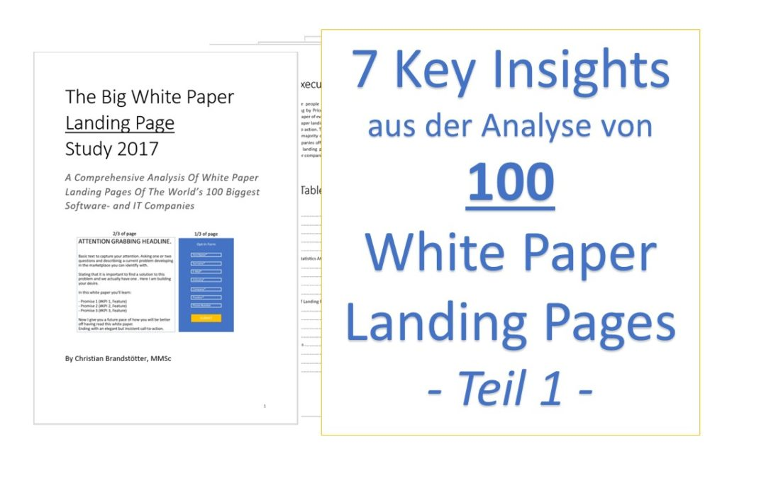 7 Insights aus der Analyse von 100 White Paper Landing Pages – Teil 1