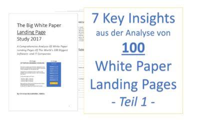 7 Insights aus der Analyse von 100 White Paper Landing Pages – Teil 1