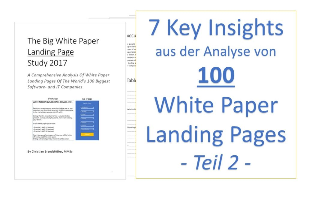 7 Insights aus der Analyse von 100 White Paper Landing Pages – Teil 2
