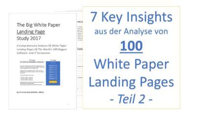 7 Insights aus der Analyse von 100 White Paper Landing Pages – Teil 2