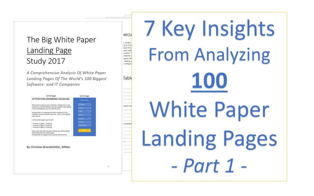 7 Insights From Analyzing 100 White Paper Landing Pages – 1/2